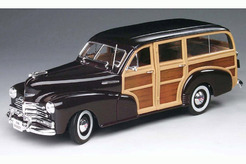 Chevrolet Fleetmaster Woody Burgundy 1948 г. (черный + коричневый)