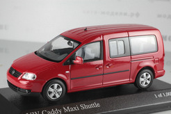 Volkswagen Caddy Maxi Shuttle, 2007г. (красный)