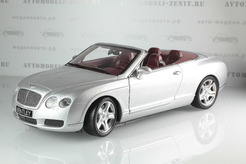 Bentley Continental GTC, 2006г. (серебряный)